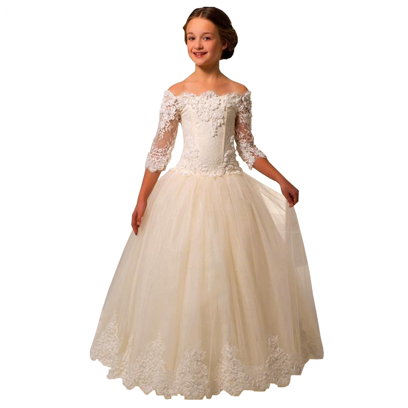 Cute flower girl dresses for wedding vintage first for Ladies dresses for wedding party