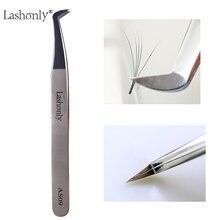 Lashonly AS09 объем Пинцет для ресниц 3D-6D русский объем наращивание ресниц лучшее качество легкий вентилятор Пинцет для ресниц