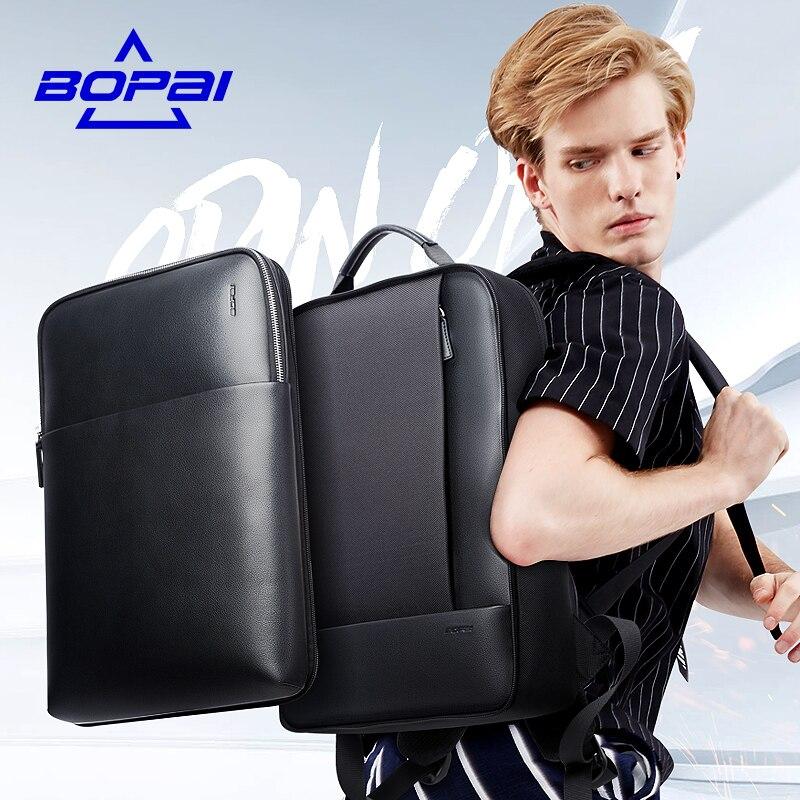 Bopai модные Дизайн 2 в 1 Рюкзаки для Для мужчин 15.6 14 дюймов ноутбук Рюкзак съемная Водонепроницаемый Тетрадь компьютер мужской back Pack