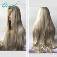 Long Human Hair Lace Front Wig 13x4 Ombre 2/60 Color Brazilian Virgin Hair Straight Blonde Lace Front Wigs 150/180 Density Qearl