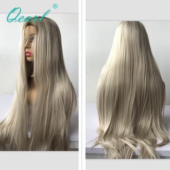 Long Human Hair Lace Front Wig 13x4 Ombre 2/60 Color Brazilian Virgin Hair Straight Blonde Lace Front Wigs 150/180 Density Qearl long human hair lace front wig 13x4 ombre 2 60 color brazilian virgin hair straight blonde lace front wigs 150 180 density qearl