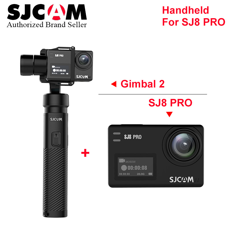 SJCAM Handheld GIMBAL SJ-Gimbal 2 3 Axis Stabilizer for SJ7 SJ6 SJ8 match with SJCAM SJ8 Pro yi 4K Touch Screen action camera update sjcam handheld gimbal sj gimbal 2 3 axis stabilizer bluetooth control for sjcam sj8 series sj7 star sj6 sj8 pro yi 4k cam