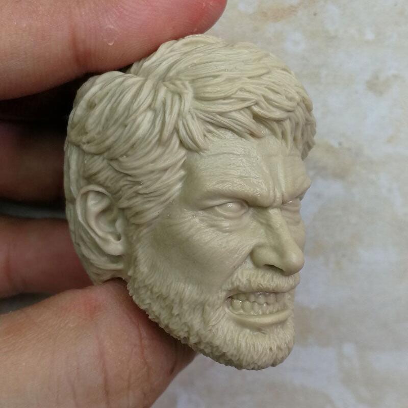 Unpainted the last of us joel head for 12 inch figure