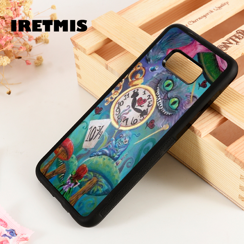 Detail Feedback Questions about Iretmis S3 S4 S5 phone case cover for  Samsung Galaxy S6 S7 S8 S9 edge plus Note 3 4 5 8 9 Alice in Wonderland  Clock Cheshire ... 80c8a4bd744e