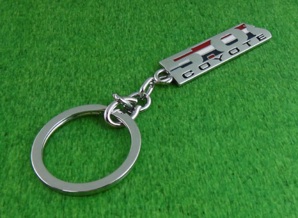 Ford Mustang Red Leather Authentic Chrome Key Fob Keyring Keychain Lanyard Tag