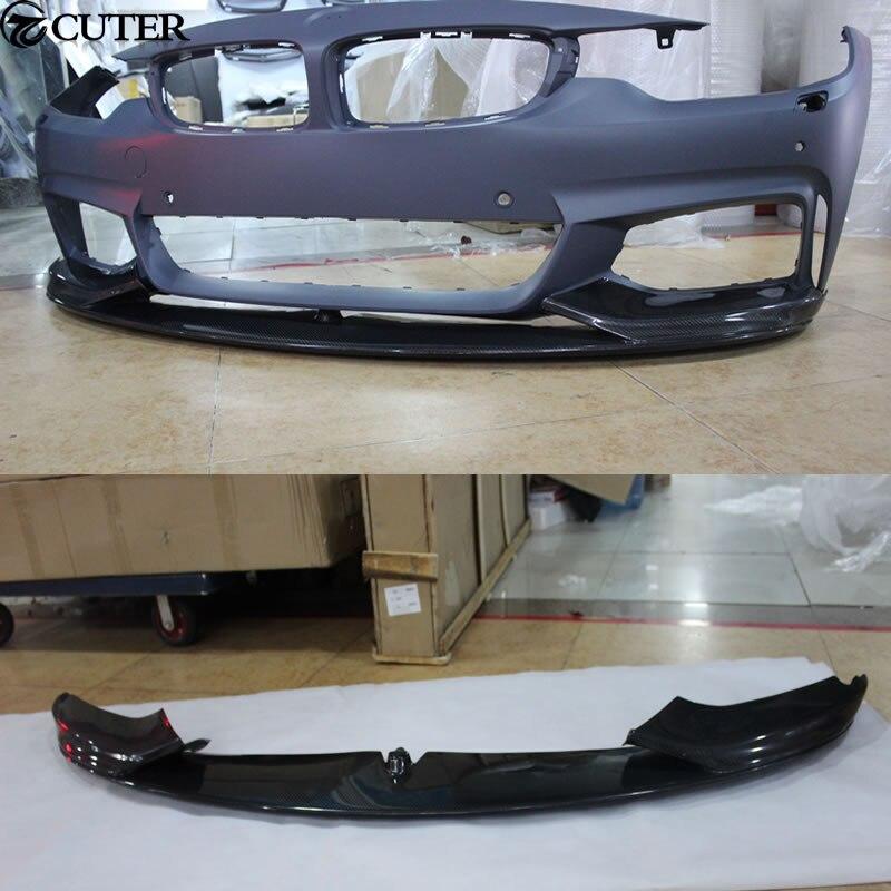 P Style F32 4 Series Carbon Fiber M TECH Front Bumper Lip for BMW 4Series F32 F33 M TECH Bumper 2014UP|front bumper lip|bumper lip|front bumper - title=