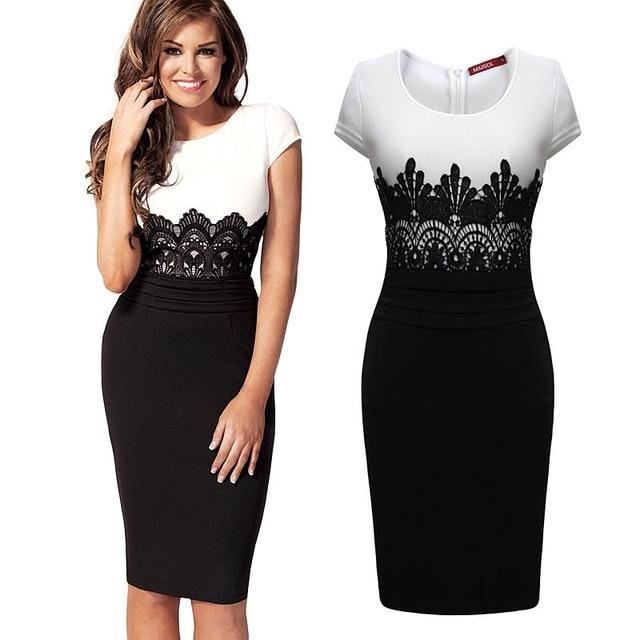 VeryYu Sleeveless Slim Lace Bodycon Dress Dresses Fashion  VerYYu