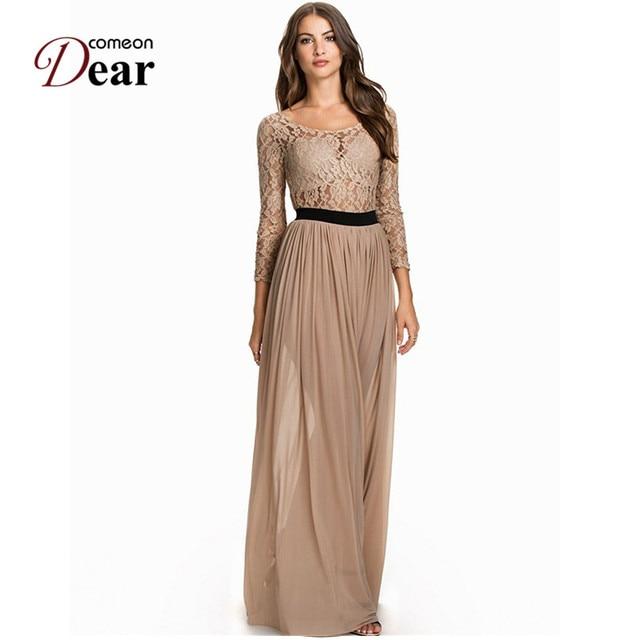 Comeondear RA80138 Women Long Dress Party Evening Elegant Plus Size ...