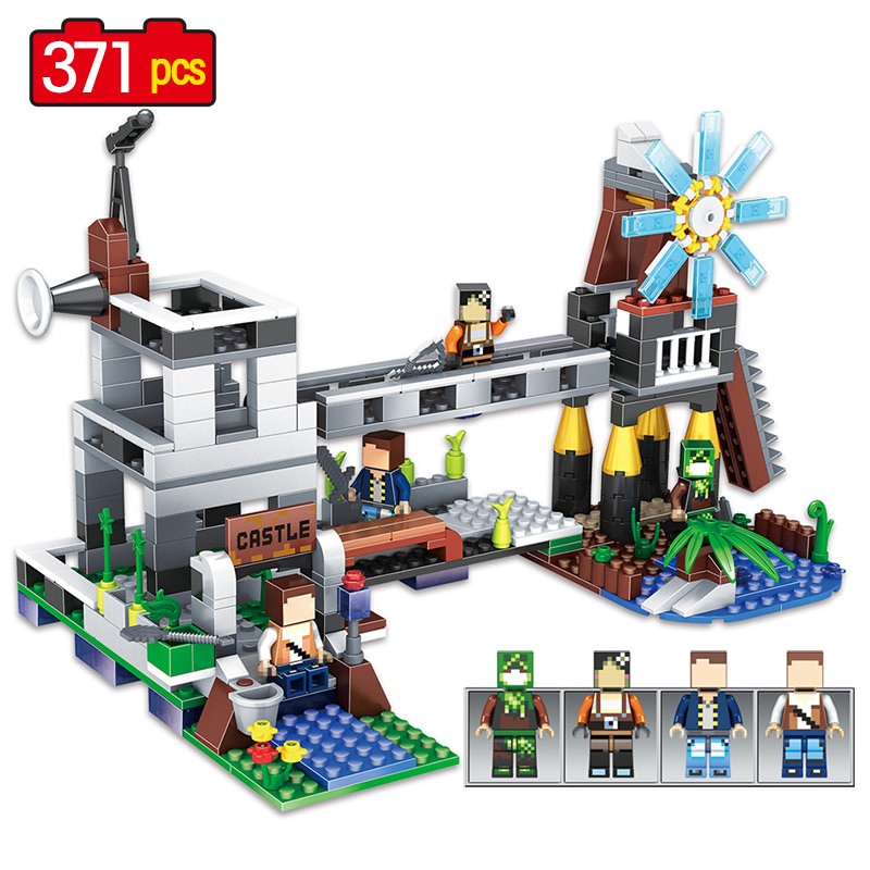 My World Minecrafted Mine Building Blocks Toy Compatible legoINGLY city house blocks toys Large building blocks sets City 259pcs new my world building blocks sets mine and workers scene blocks compatible legoinglys minecrafter toys for childrens