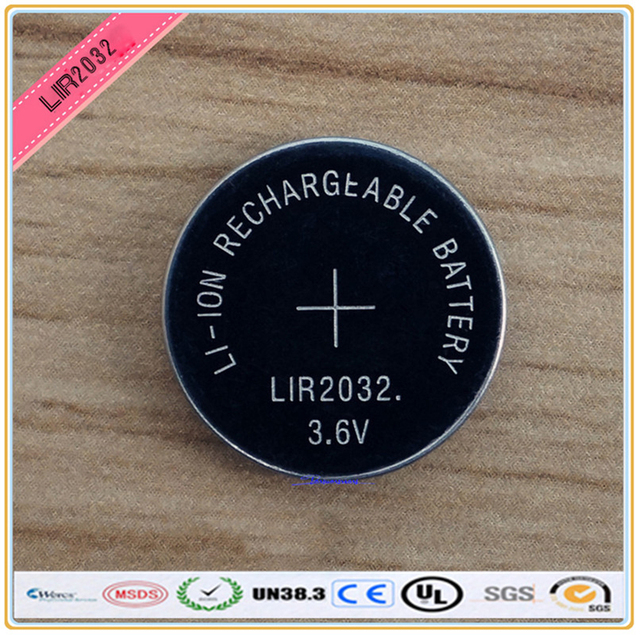 New! 4pcs/lot LIR2032 3.6V Li-on Rechargeable Button Coin Cell Battery Can Replace CR2032 for watches