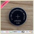 Nova! 4 pçs/lote LIR2032 3.6 V Li on recarregável plana pode substituir CR2032 para relógios