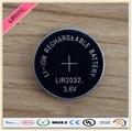 Nueva! 4 unids/lote LIR2032 3.6 V Li on recargable del botón de la moneda sustituye CR2032 para relojes