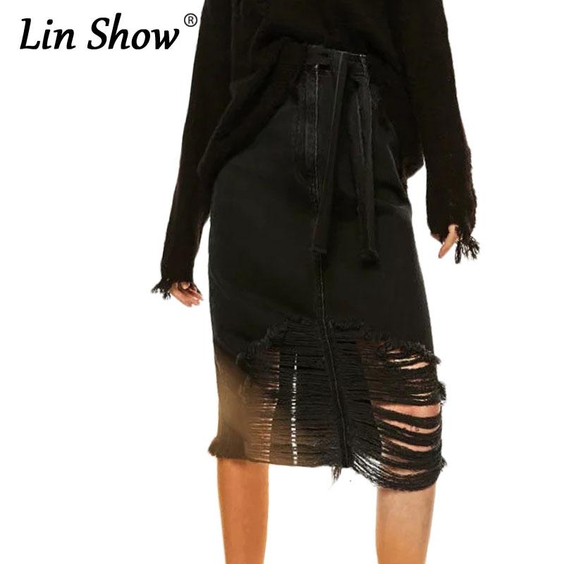 Black A Line Denim Skirt 2017 | Dress Ala - Part 292
