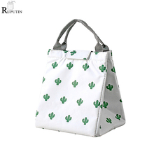 лучшая цена RUPUTIN Fresh Insulation Lunch Bags Picnic Food Storage Bags Tote Cooler Box Portable Aluminum Foil Bento Bag Lunch Ice Package