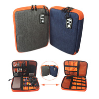 Waterproof Ipad Organizer USB Data Cable Earphone Wire Pen Power Bank Travel Storage Bag Kit Case