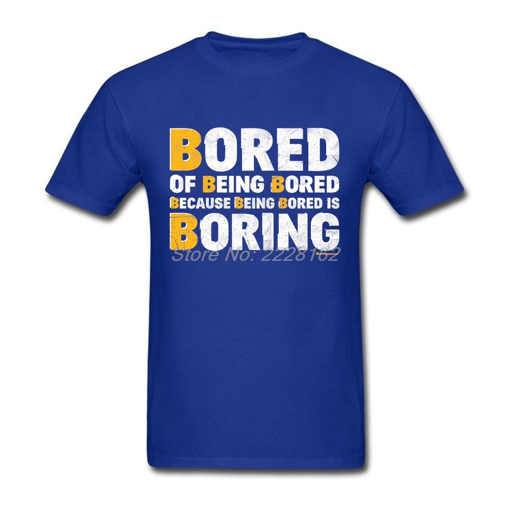 SO BORING T Shirt Men Concert Blue tshirt Plus Size New Hipster t-shirts Adult Summer Top