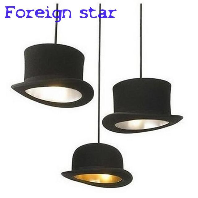 Modern Style Pndant Lights Cloth Top Hat Dome Cap Indoor Lighting Led  Restaurant Clothing Store Decoration