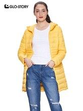 GLO-STORY 2018 Herbst frauen Winter Mantel Leichte Parka mit Kapuze Zipper  Verschluss Damen Winter Jacken Weibliche Mäntel WMA-6. 35a6f358e6