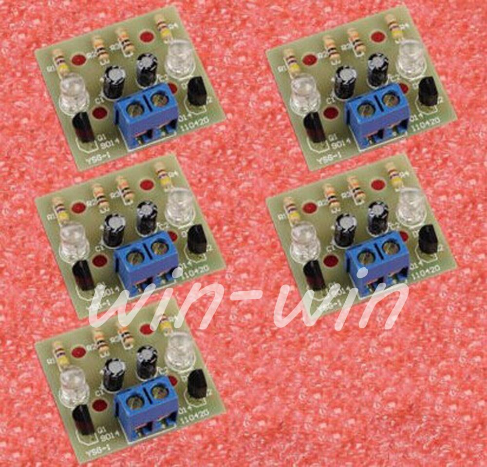 5PCS Simple Flash Circuit DIY Kits Electronic Suite Electronic
