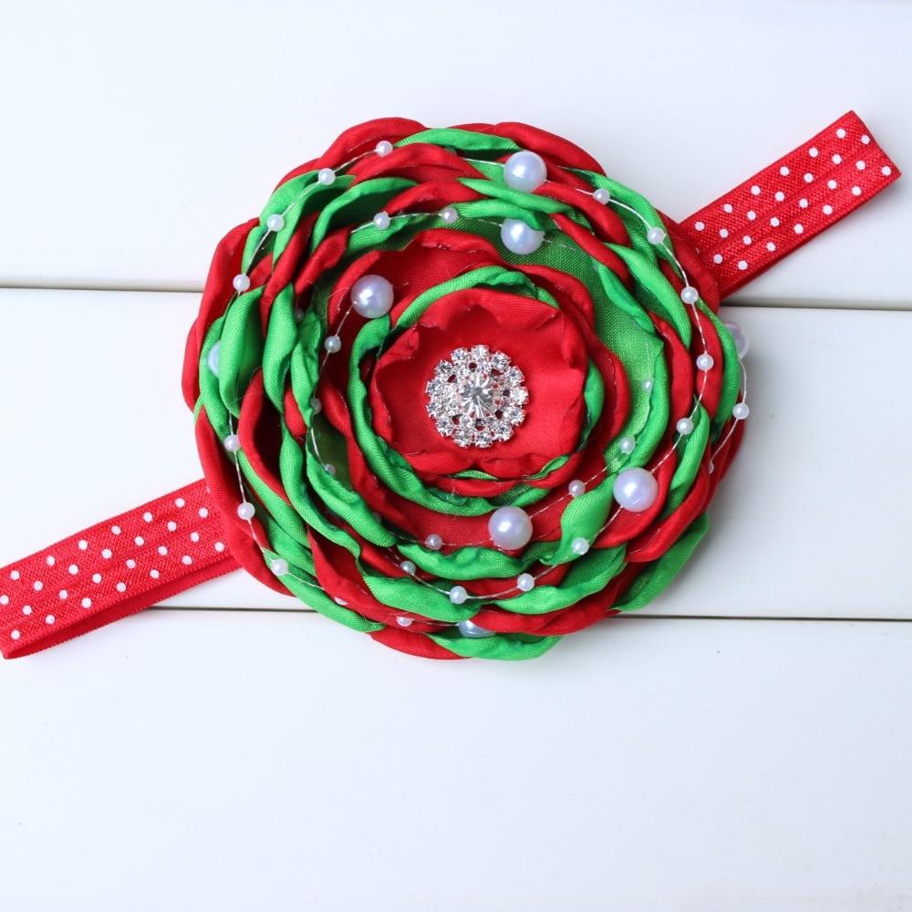 Christmas Gift Christmas flower headband burn flower hairband headwear for gril kids accessories 1pcs
