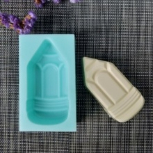 Pencil head silicone soap mold pencil DIY handmade soap making mold candle silicone mold resin clay mold qt0142 notebook silicone moldcard packaging silicone mold soap mold handmade soap moldcandle silicone moldresin clay mold
