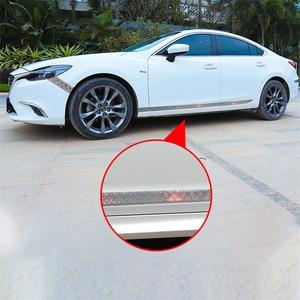 Image 2 - רכב מדבקות לייזר 5D פחמן סיבי גומי סטיילינג דלת אדן מגן מוצרים עבור KIA אאודי מאזדה פורד יונדאי וכו אביזרים