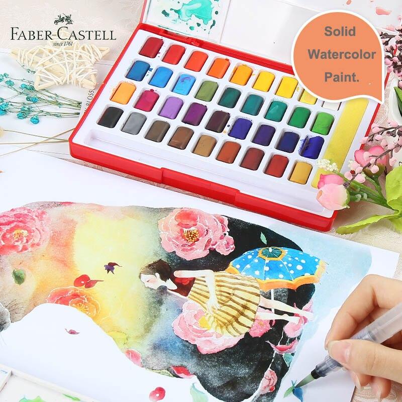 Faber Castell Katı Suluboya Boya Seti 243648 Parlak Renkler