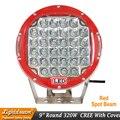320 Вт  32 светодиода  красный  черный светодиодный фонарь для вождения  9 дюймов  светодиодный внедорожный свет  12 В  24 В  высокомощные светодио...