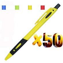 Lote de plástico de bolígrafos retráctiles, bolígrafo personalizado con Logo, regalo promocional personalizado, 50 Uds.
