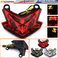 For Kawasaki ZX-6R Z800 2013-2016 Motorcycle Accessories Red High Quality Integrated LED Tail Light Turn signal Blinker
