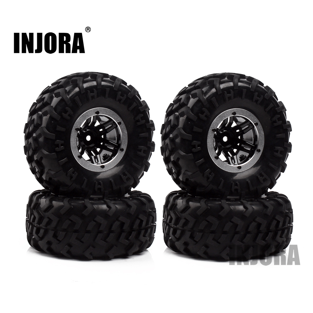 Austar AX-3024 Air Pneumatic Beadlock Wheel Rim and Tire for 1/10 HSP HPI Tamiya Traxxas Kyosho Monster Truck 1:10 RC Car Parts 2pcs traxxas original 1 5 x maxx tires wheels tire tyre for 1 5 traxxas x maxx rc monster truck model 7772