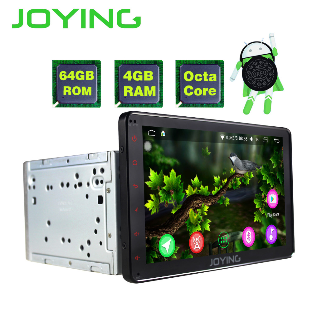 JOYING 2din Android Voiture Radio 8.0 4 gb + 64 gb 8 Core HD 8 ''lcd bluetooth tactile Pour Toyota Corolla Camry Avensis Prius RAV4 Hilux