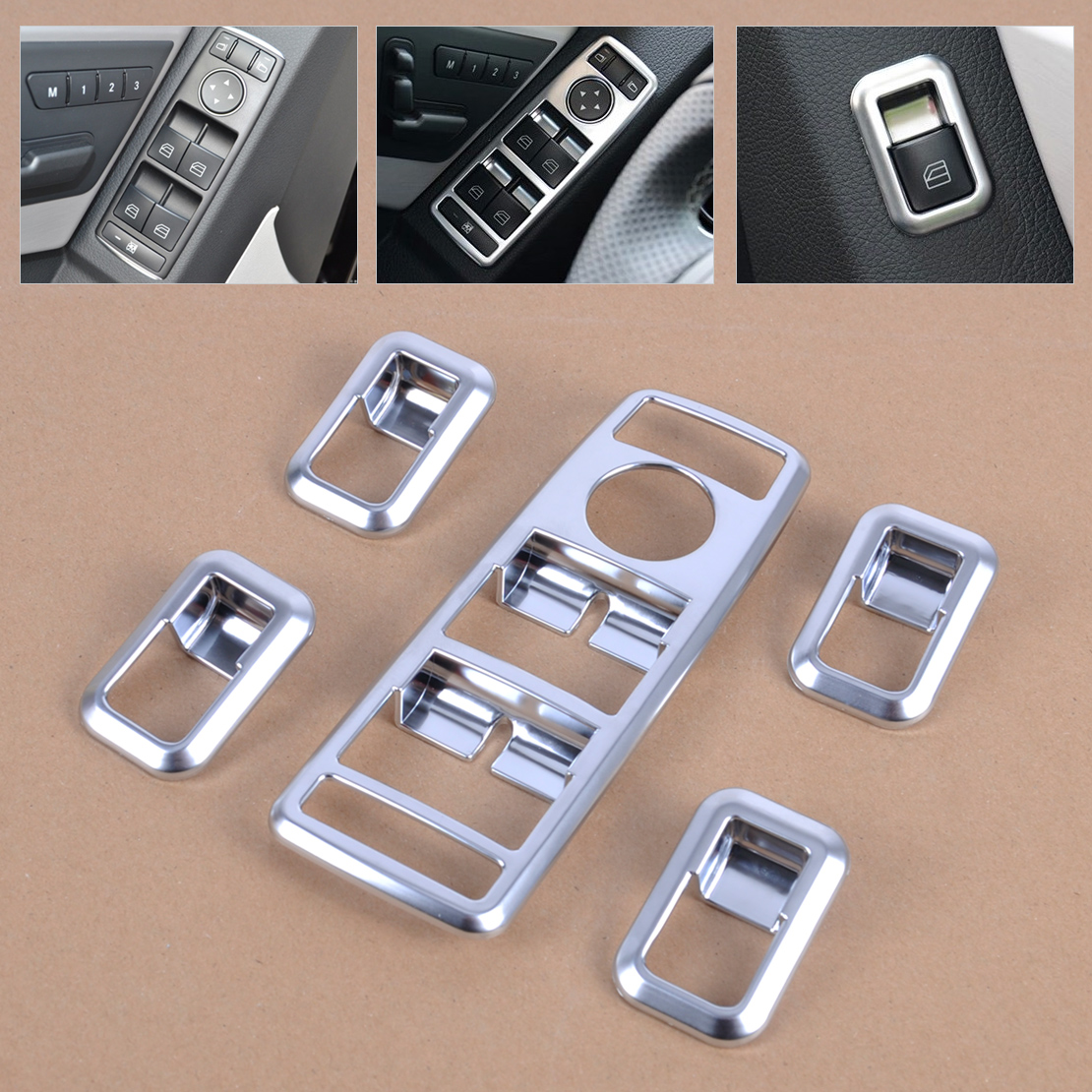 Window Switch Cover For Benz A B C E G GLE Carbon fiber style Button W176 W204