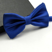 High Quality Men Fashion Solid Bowtie Wedding Butterfly Bow Tie Novelty Tuxedo Adjustable Necktie with Yellow/Dark Green/Grass Green Colors