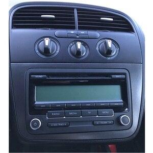 Image 2 - Podwójna DIN samochodowa ramka wykończeniowa radia dla SEAT Altea Toledo (LHD) lewa ręka stereo panel ramka zestaw do montażu na desce rozdzielczej adapter tapicerka Bezel facia
