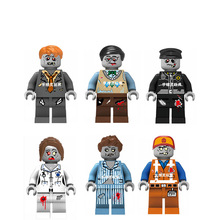 6PCS/lot The Walking Dead Original Blocks Action toy Figures Decool 6 style Model Building blocks sets gift for boy kids toys