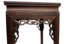 wood carved mahogany handicraft furnishing articles household act the role ofing is tasted real flower stands tall base