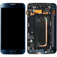Orijinal Süper AMOLED samsung LCD Galaxy S6 Çerçeve Ile LCD Ekran SM G920F LCD ekran dokunmatik ekranlı sayısallaştırıcı grup