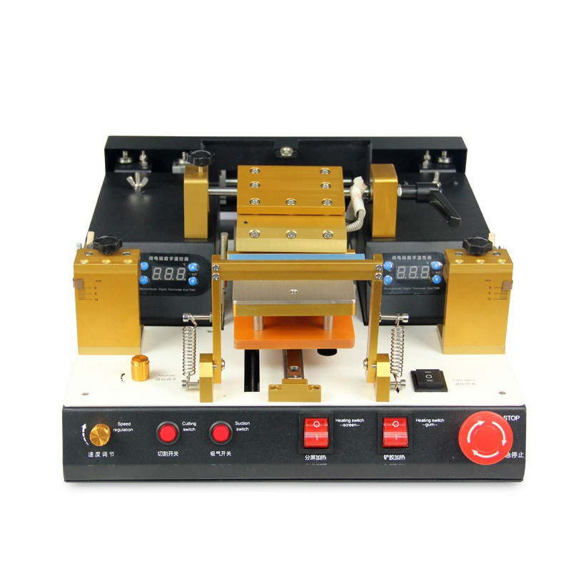 Full automatic built in vacuum pump LCD screen separator machine with glue polarizer separating function