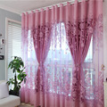 Двухслойные Роскошные оконные шторы  комплект для гостиной  европейские королевские шторы для спальни (1 занавеска и 1 вуаль)