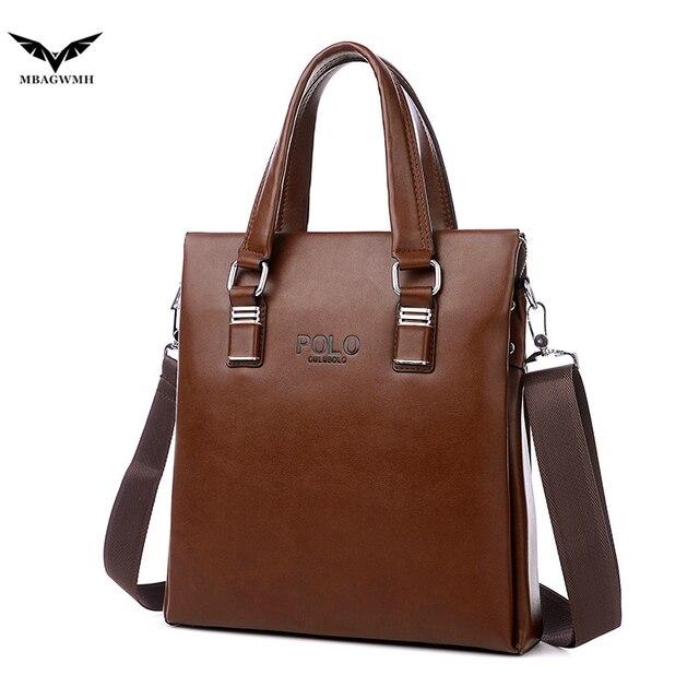New Hot POLO Brand Men Handbag PU Leather Bag High Quality Leather Men Briefcase Business Casual Male Messenger Crossbody Bag