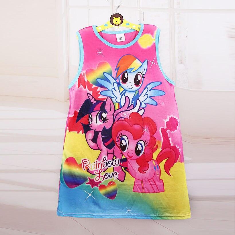 Лидер продаж; Новинка 2017 девочка мультфильм принцессы Платье с цветочным рисунком летняя повседневная одежда для детей Одежда для маленьких девочек