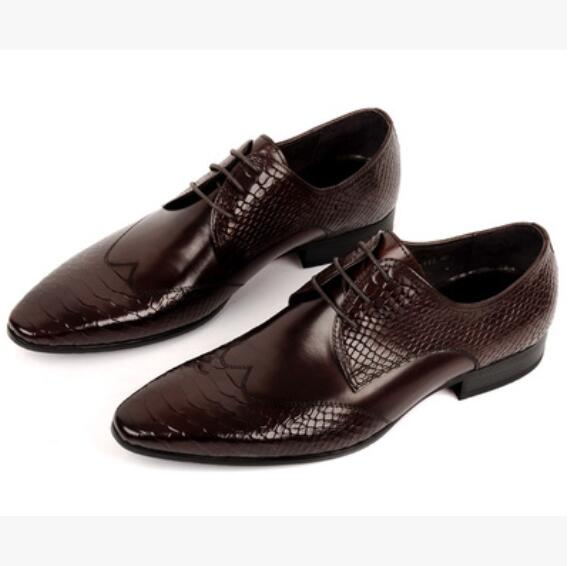 Black Men Elegant Dress Leather Oxfords Shoes 2018 High Quality Spring Wedding Oxfords Shoes Italian Driving Oxfords Shoes