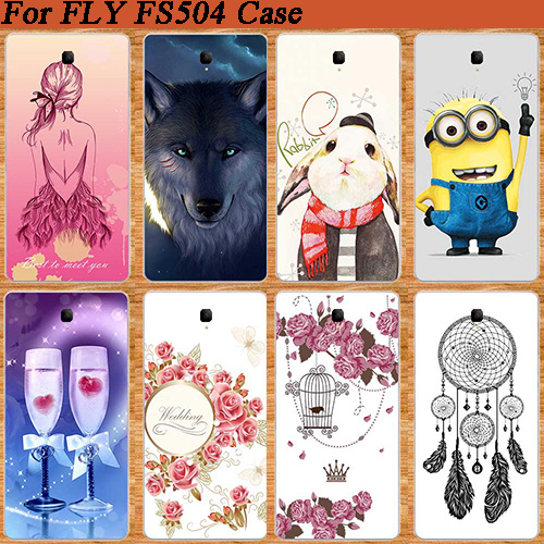 For Fly Cirrus 2 FS504 DIY Colorful painted case fashion styles SOFT TPU  Silicone patterns Covers For Fly FS504 Cirrus 2 fs 504 3afab7f4fff6