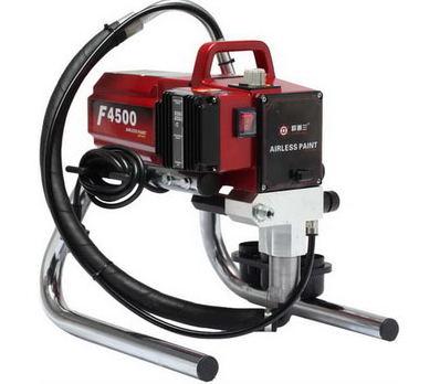 Professionaalne kolbküttega kaasaskantav elektrita õhuvaba elektripihusti pihustuspüstoliga värvimismasinaga F4500