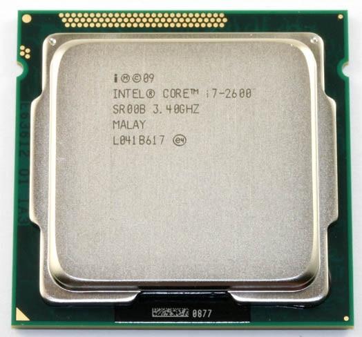 Intel Core i7 2600 3.4 ГГц 4 ядра процессора 8 МБ 5gt/S sr00b LGA 1155 гнездо i7-2600
