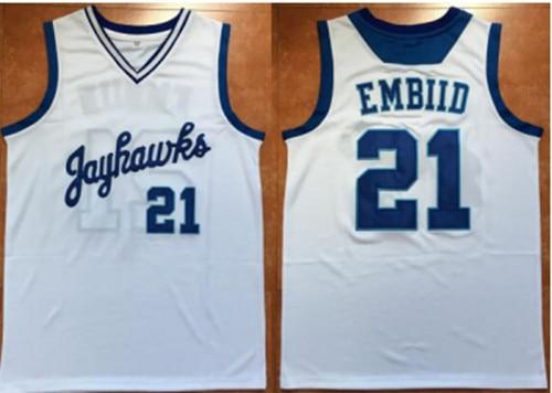 bd26764bf ... canada 21 joel embiid jerseys kansas jayhawks basketball jersey  whitebluecustom any size 4e95b b6b41