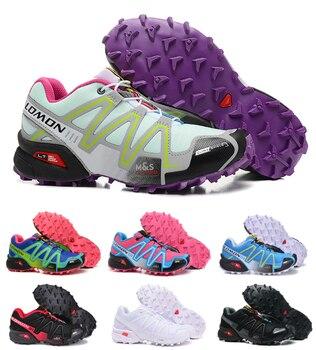9f0ca442 Nuevo Salomon velocidad Cruz 3 CS transpirable cómodo caminando zapatillas  de deporte calzado deportivo Speedcross 3