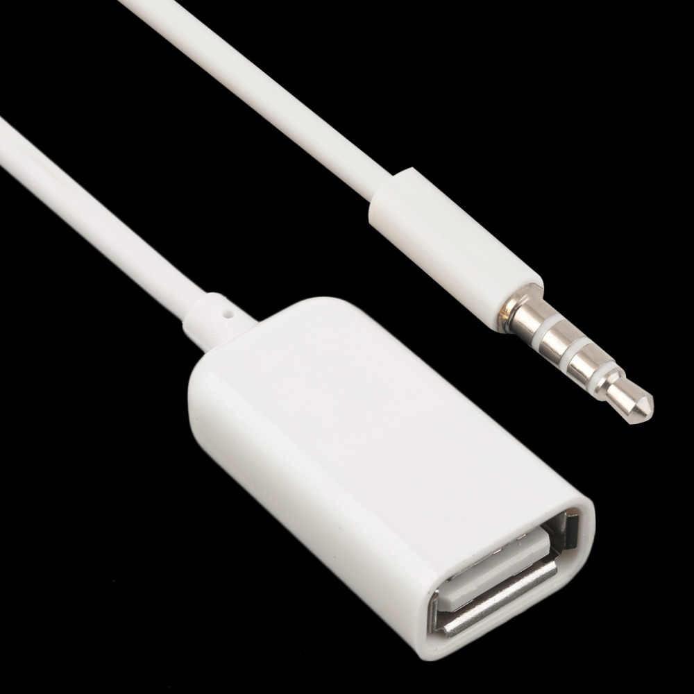 3.5 مللي متر ذكر AUX وصلات صوت جاك إلى USB 2.0 أنثى محول الحبل كابل سيارة MP3 الساخن بيع