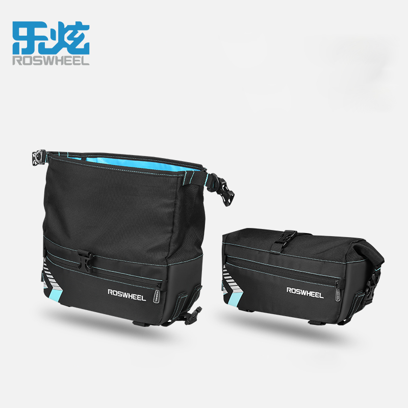 ROSWHEEL mtb bike bag bicycle trunk bag cycling bycicle cycle bags rack bag accessories 6L capacity waterproof in Bicycle Bags Panniers from Sports Entertainment